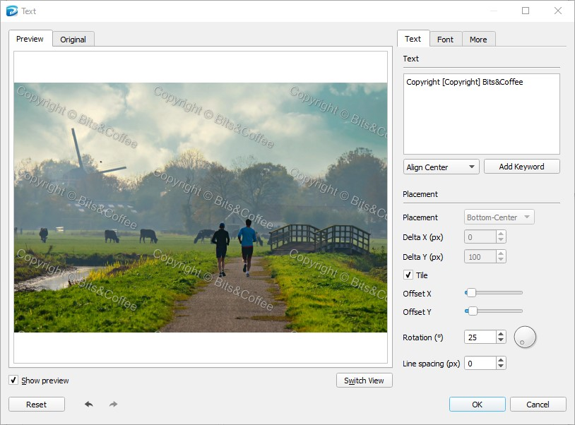 How to Add a Tiled Watermark to your Photos